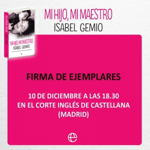 Firma libro Isabel Gemio Madrid
