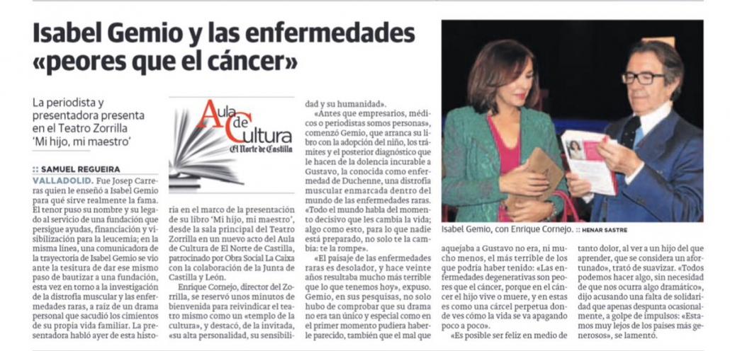 Presentación libro Mi hijo mi maestro Isabel Gemio Valladolid El Norte de Castilla