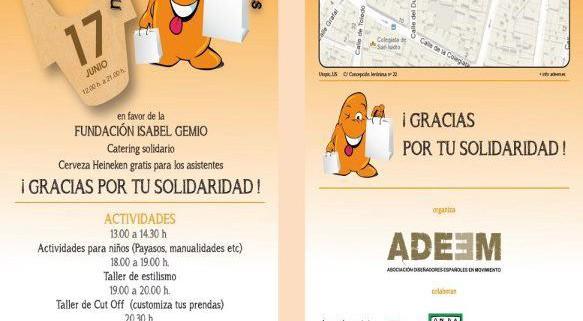Cartel del Mercadillo Solidario
